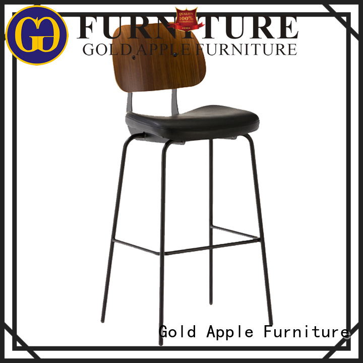 Wholesale sale upholstered bar stools Gold Apple Brand