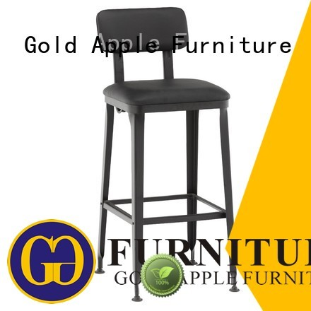 upholstered bar stools with backs and arms metal swivel cushion Warranty Gold Apple