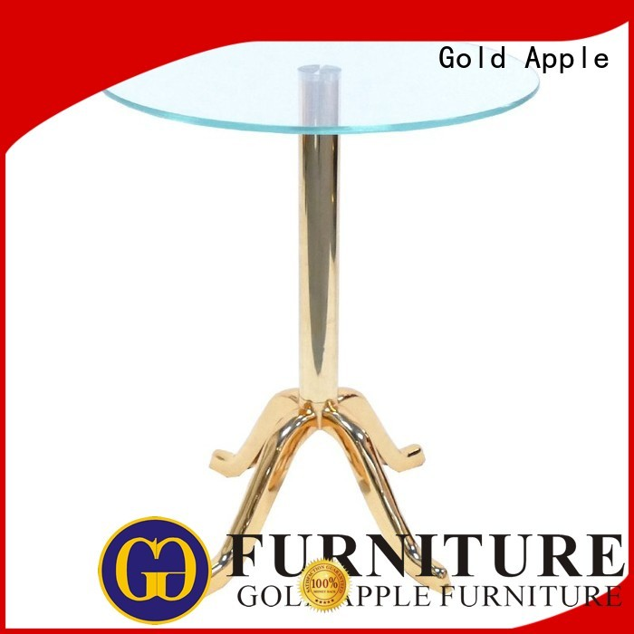 Hot wood modern wood coffee table sale glass Gold Apple Brand