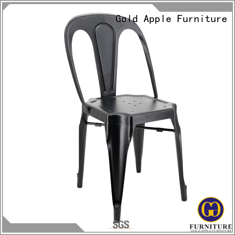 Wholesale frame industrial wooden patio chairs Gold Apple Brand