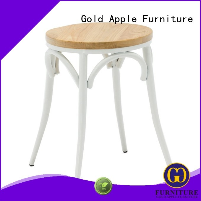 Gold Apple Brand dining seat bistro custom low stools for sale