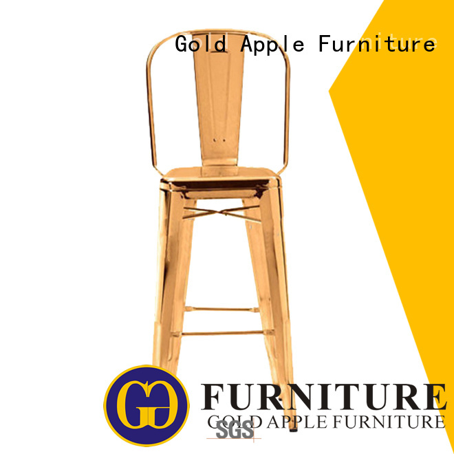 cushion fashion design tall counter stools Gold Apple manufacture