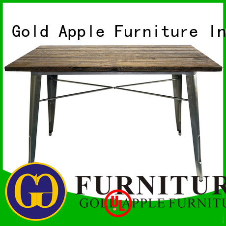 Wholesale rectangle wholesale dining tables picnic Gold Apple Brand