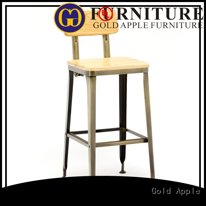 plywood padding commercial dark Gold Apple Brand bar stool supplier supplier