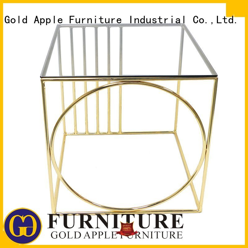 Wholesale directly fashion modern wood coffee table Gold Apple Brand