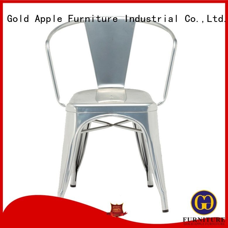 dining cafe OEM wooden patio chairs Gold Apple